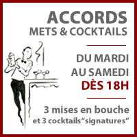 Nos Accords Mets & Cocktails !